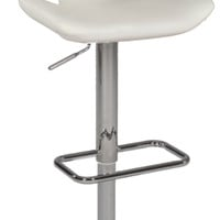 White T Design Back Pneumatic Gas Lift Swivel Stool