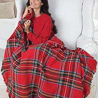 Red Plaid Throw Blanket - Amana Woolen Mill Blanket | PajamaGram