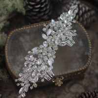Hair Piece for Bride with Crystals Wedding Hair Piece Decorated Rhinestones Hair Accessory Bride Headpiece Rhinestone Hair Accessory Wedding