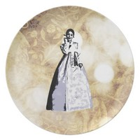 Korean traditional costume Hanbok - 한복 Dinner Plate