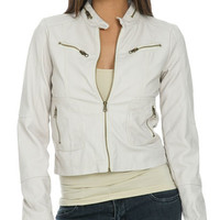 Distressed Faux Leather Jacket | Shop Jackets at Wet Seal