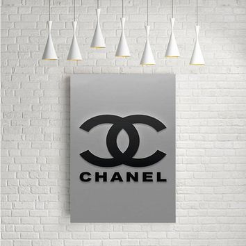 CHANEL LOGO REAL ARTWORK POSTERS