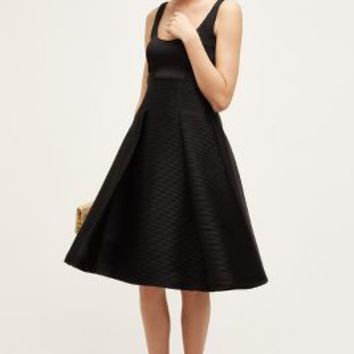 Badgley Mischka Scooped Flare Dress in Black Size: