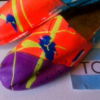 Toms splatter painted Toms shoes by conchetts on Etsy