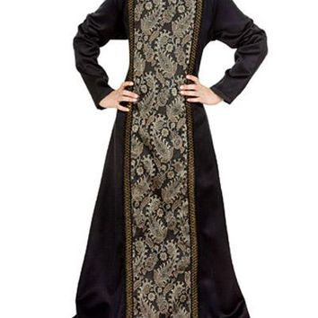 Brocade Elaborate Princess Dark Steampunk Childrens Girls Dress