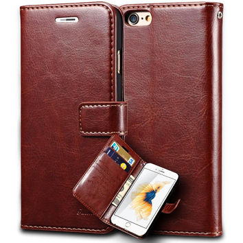 """6S Vintage Wallet PU Leather Case for iPhone 6 S 6S 6 Plus 4.7"""" Flip Book Phone Bag Cover with Card Holder Coque For iPhone6"""