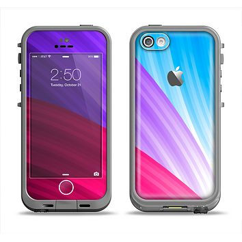 The Radiant Color-Swirls Apple iPhone 5c LifeProof Fre Case Skin Set