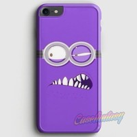 Evil Bad Minion Cartoon Purple Face iPhone 7 Case | casescraft