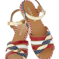 Huge Hugs Sandal in Americana | Mod Retro Vintage Sandals | ModCloth.com