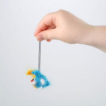 Crocheted keychain Key Holder Handmade Eco friendly home decoration Gift ideas