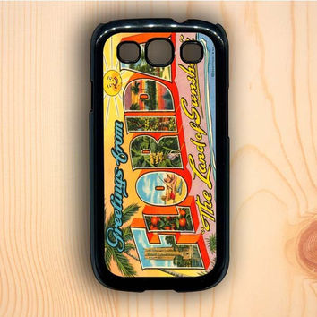 Dream colorful Vintage Florida Postcard Samsung Galaxy S3 Case