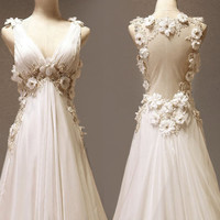 Custom make Vintage Wedding Dress A LINE Bridal Gown by wonderxue