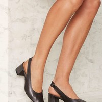 Intentionally Blank Hester Leather Heel