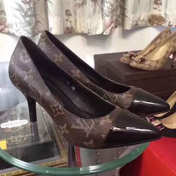 Lv Louis Vuitton Women Heels Shoes