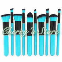 Professional 10pcs Makeup Brushes Set Cosmetic Foundation Eyeshadow Brush Kabuki