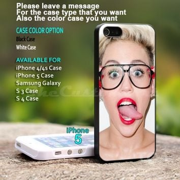 Miley Cyrus - For iPhone 5 Black Case Cover