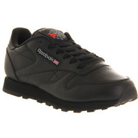 Reebok Mens Classic Leather Casual Shoes Sneakers New Black