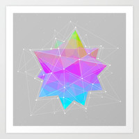 The Dots Will Somehow Connect (Geometric Star) Art Print by Soaring Anchor Designs