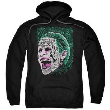 ac spbest Suicide Squad - Prince Portrait Adult Pull Over Hoodie