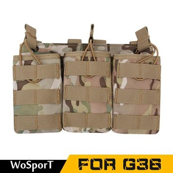 Camouflage Tactical Magazine Pouch Military Army MOLLE Vest Belt Hunting Utility Flashlight Bags Storage Bags FOR G36  WoSporT