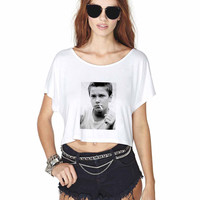 River Phoenix Crop Shirt , Custom Crop Shirt , Woman Crop Shirt