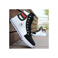 Mens Round Toe High Top Sneakers Casual Lace Up Skateboard Shoes Newest Style(3 Colors) [8822148675]