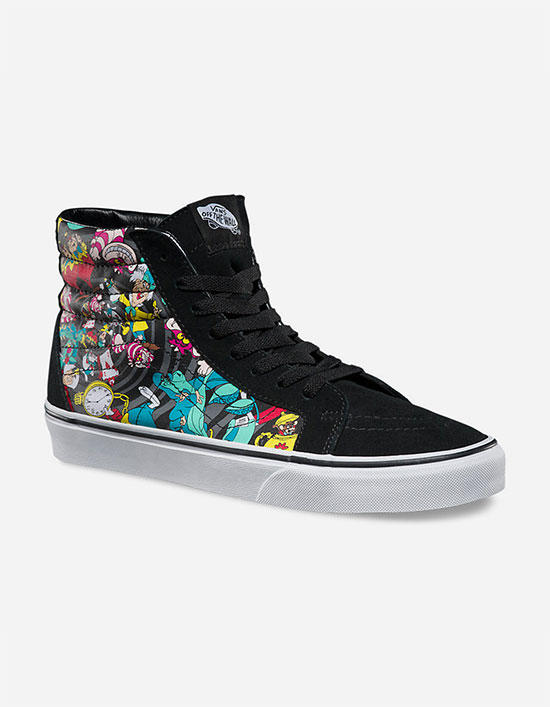 Vans Disney Rabbit Hole Vans Sk8-Hi Reissue Womens Shoes Black Combo In  Sizes 434f7ca934e19