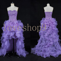 Long Purple Prom Dress Evening Party Homecoming Bridesmaid Cocktail Formal Dress New Arrival Lovely Bridesmaid Dress
