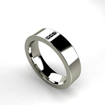Shop Black Titanium Rings With Diamonds on Wanelo