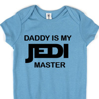 Star Wars // Baby 3 Snap Creeper // Multi Color Choices // Boy Girl Unisex // Daddy Is My Jedi Master
