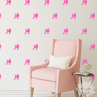 Poodle wall decal / Doggie Wall Decals / 36 Poodles Wall Sticker / Custom Kids Rooml / Nursery Home Decor / removable / gift