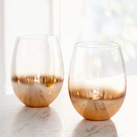 Copper Ombre Stemless Wine Glass – Set of 2 | Urban Outfitters
