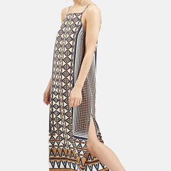 Women's Topshop Stripe Print Midi Dress,