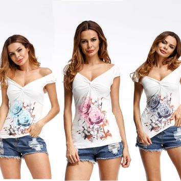Eaby Couture Explosion Printing Cross Slim T-shirt