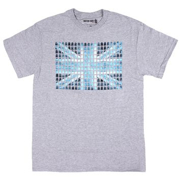 Doctor Who Mens Union Jack Mini Tardis T-Shirt