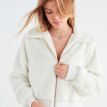 UO Callie Fuzzy Zip Jacket | Urban Outfitters