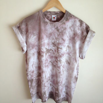 Tie Dye T-shirt Brown Colour Mix