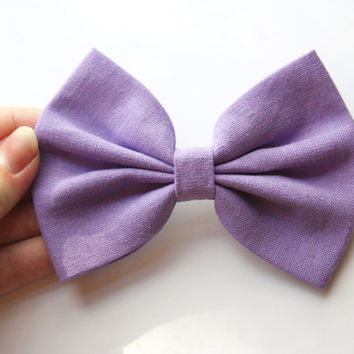 NEW - Sarah Hair Bow - Lavender Purple Hair Bow with Clip