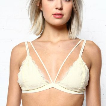 Totally Strapped Bralette - Ivory