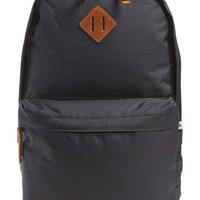 Men's Topman 'Black Grid' Textured Nylon Backpack - Black