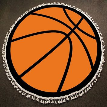Round Beach Towel ~ Basketball