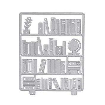 Bookshelf Metal Cutting Die Stencils for Scrapbooking Decorating Craft Album DIY Paper Card Handicraft Tools Gift