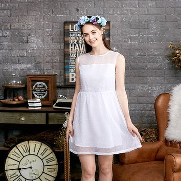 Ethereal Dotted Mesh Dress (woman)
