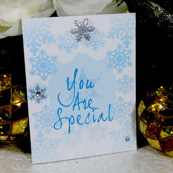 You Are a Special Snowflake, Funny Holiday Card, Sarcastic Christmas Greeting, Fun Seasons Greeting, Insulting Holiday Card,