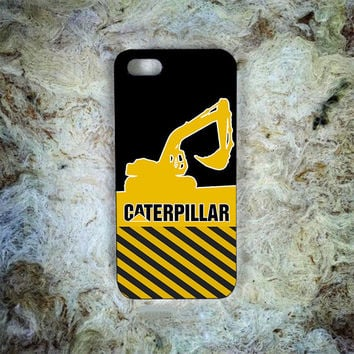 Yellow Caterpillar Logo Version Print On Hard Plastic Cover Skin For iPhone