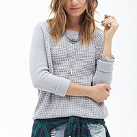 FOREVER 21 Favorite Waffle Knit Sweater