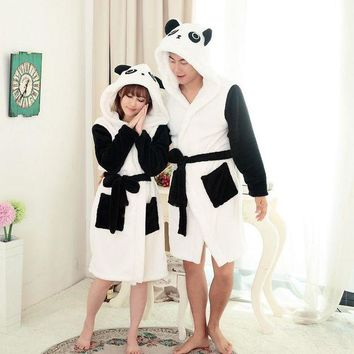 ONETOW ANIMALCARTOON Panda Cartoon Robes for women Long Sexy robe d' Rabbit Stitch Cow Seep Animal Sleep Robe Bathrobe Women Nightgown