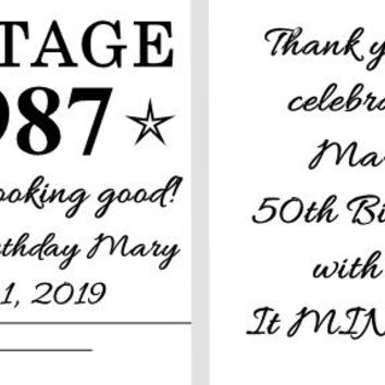 20 Adult Vintage Birthday Party Matchbook Mint Favors