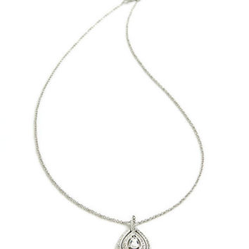 Nadri Crystal Teardrop Pendant Necklace