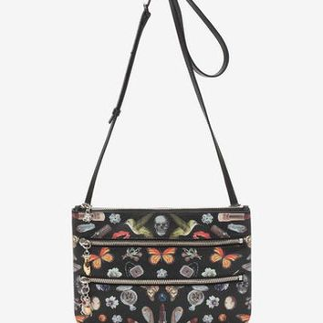 Obsession Print Zip Pouch | Alexander McQueen